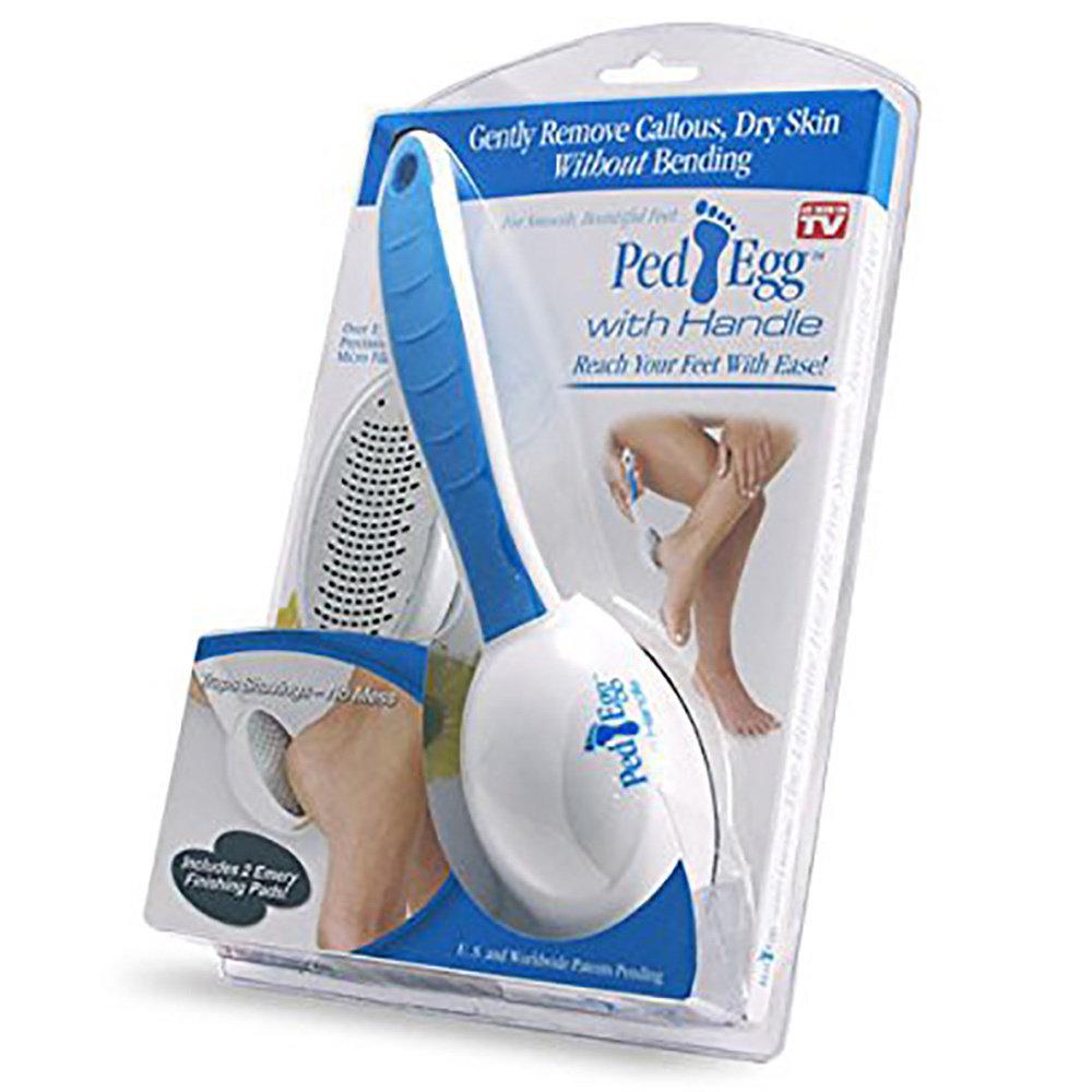 Ped EGG râpe en acier inoxydable pour des pieds doux