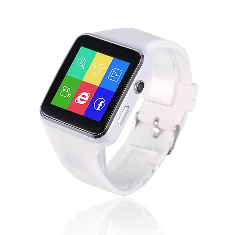 Montre intelligente connectée et téléphone, Smartwatch XR6 - Qualité Premium - Blanc