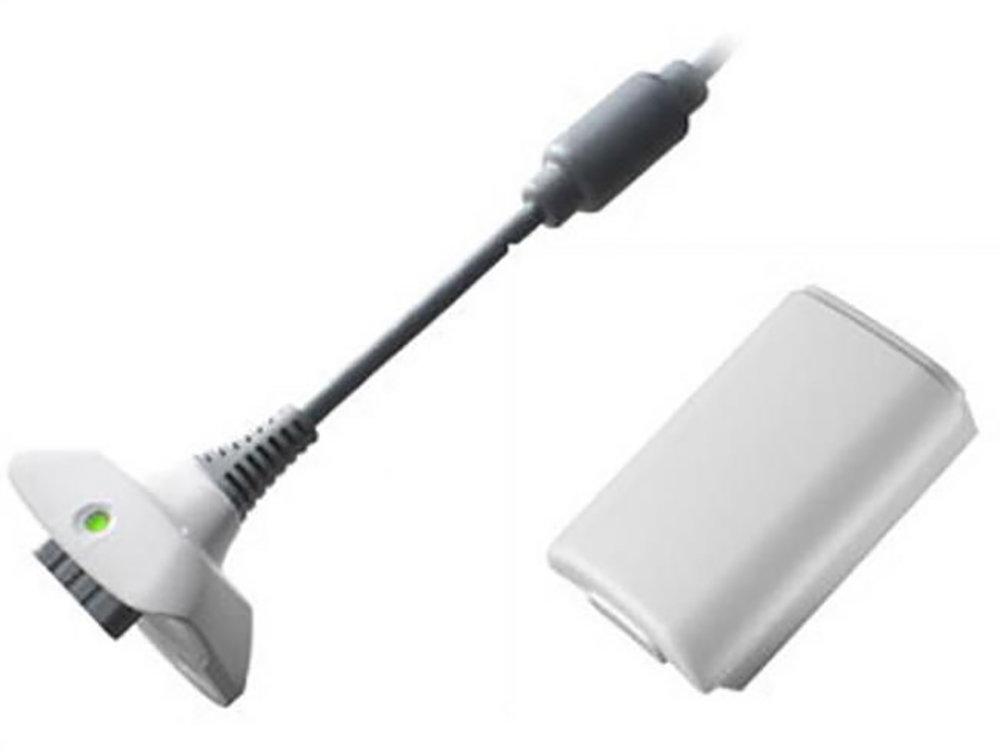 Kit de chargement et batterie 4800mAh pour manette XBOX X-360 - Blanc
