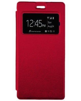 Flip cover pour infinix Hot 3 X553 - Rouge