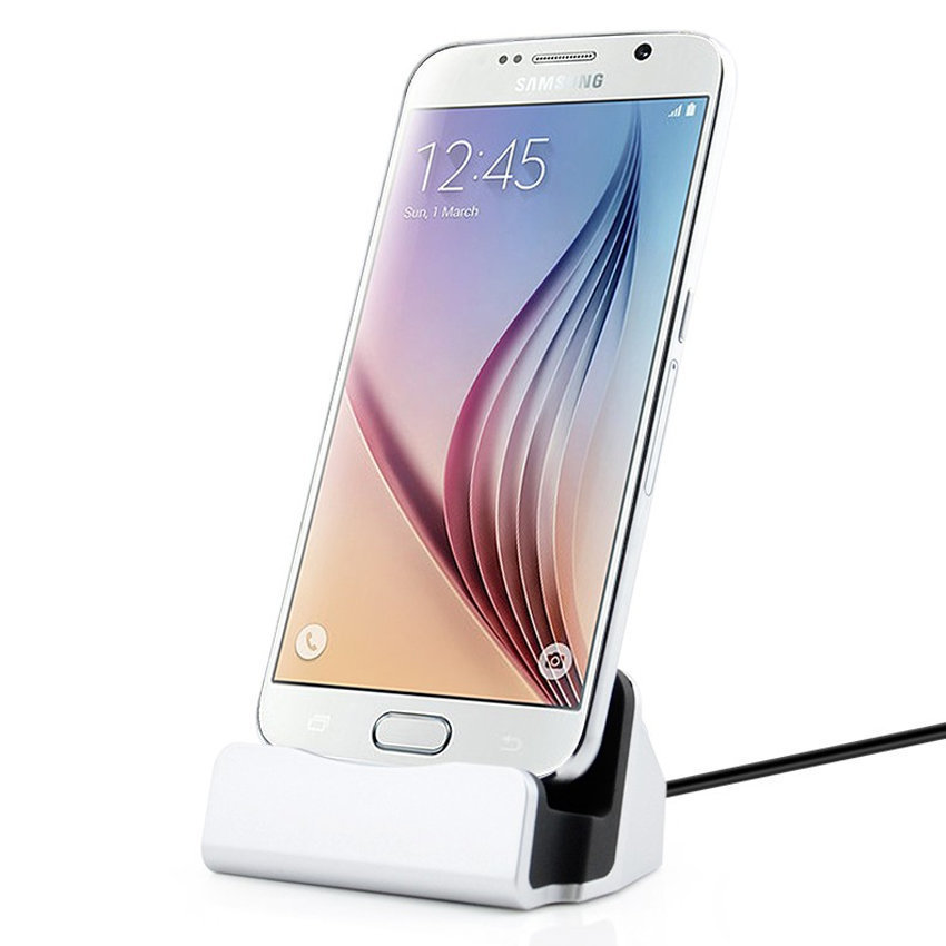 Station d'accueil et chargeur pour smartphone Android - USB type-B - Silver
