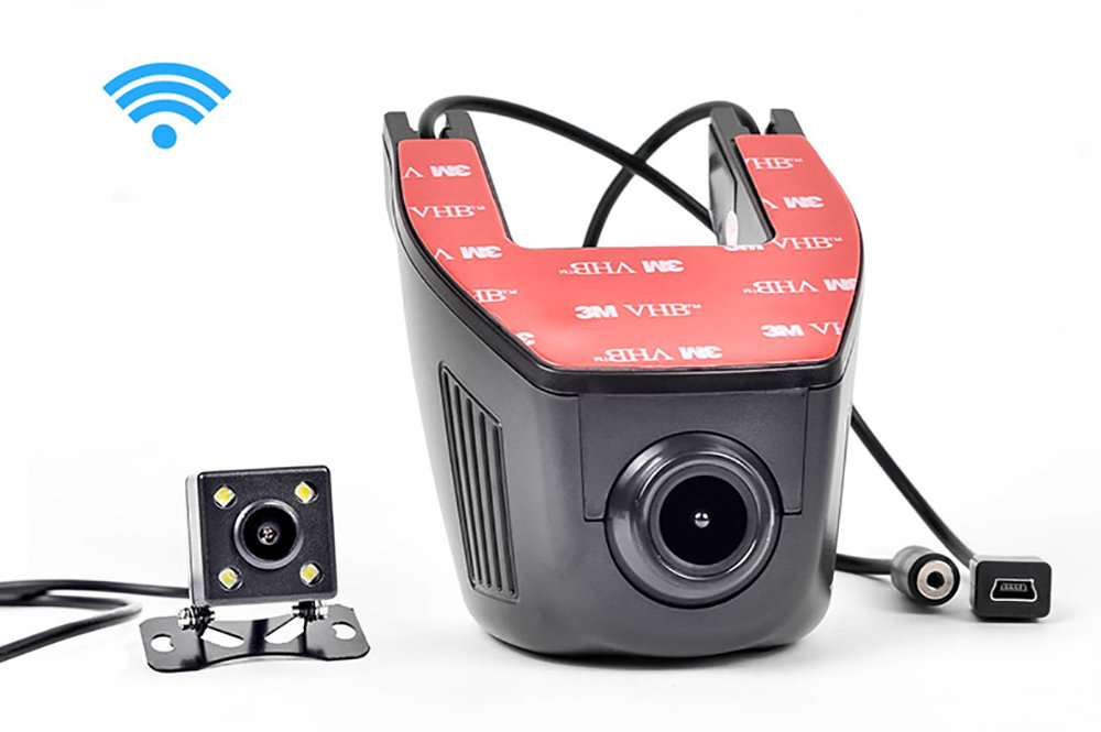 DashCam WIFI Double Caméra embarquée avec application sur smartphone
