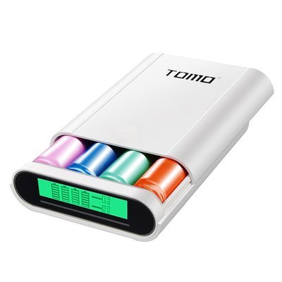 TOMO Power Bank et chargeur intelligent compatible avec android & iPhone 12000mAh – Blanc