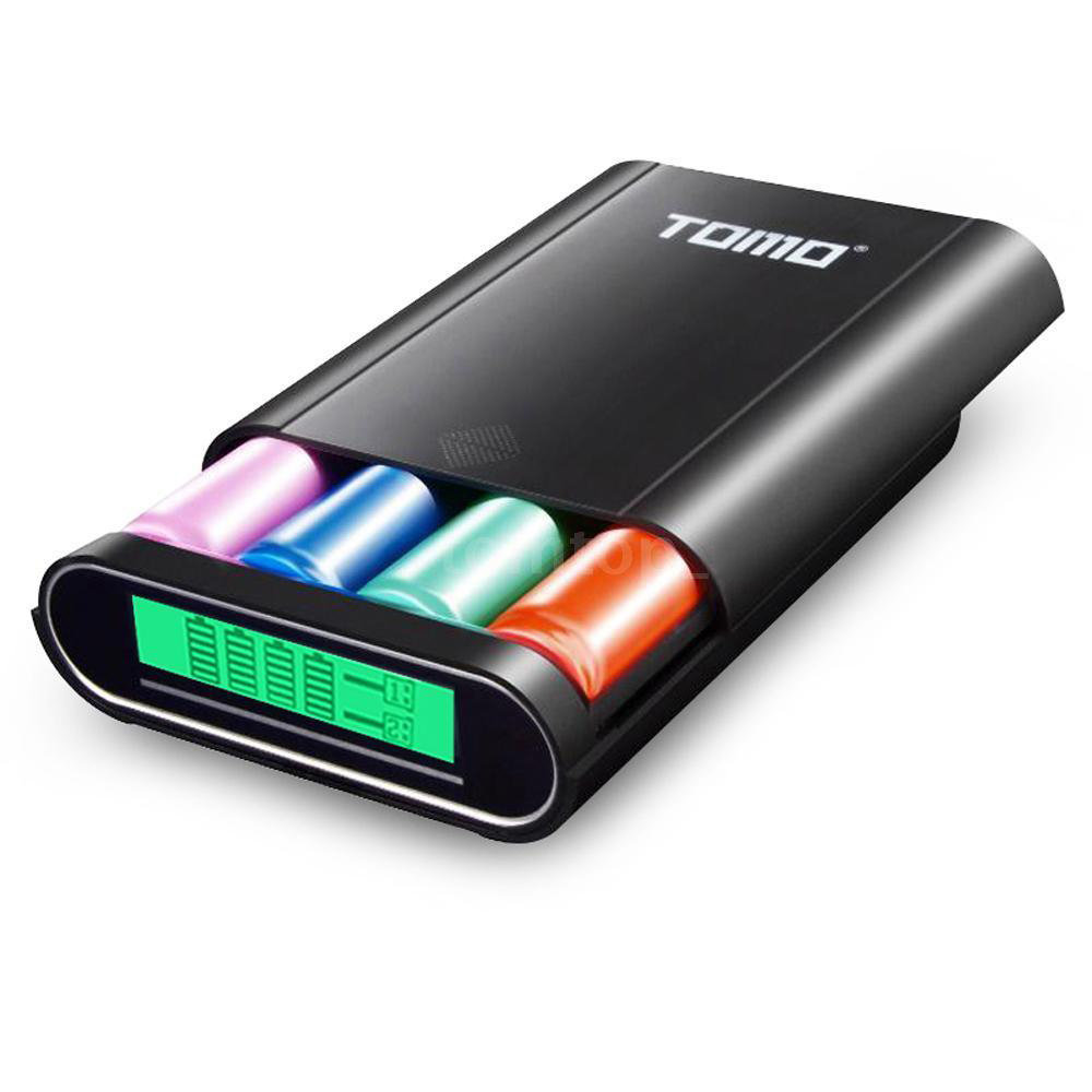 TOMO Power Bank et chargeur intelligent compatible avec android & iPhone 12000mAh – Noir