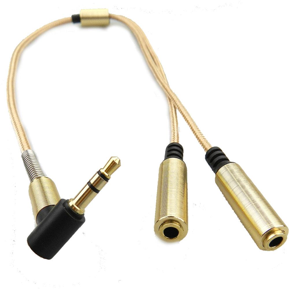 Câble AUX Splitter 3.5 mm - Gold