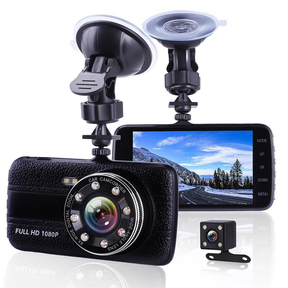 Dashcam double camera pour Voiture avec capteur de gravité
