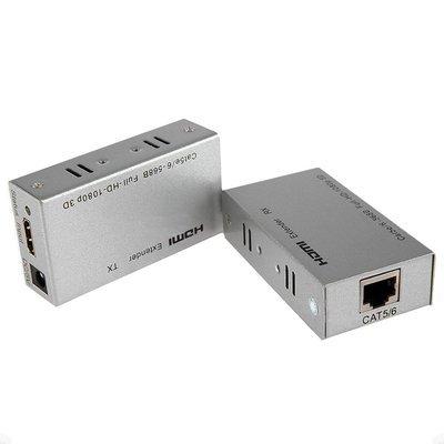 Extenseur HDMI Extender 60M TX et RX via câble réseau Cat 5E/6