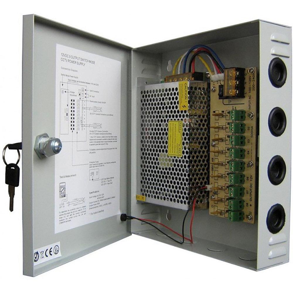 Bloc d'alimentation 12V/15A pour caméras CCTV