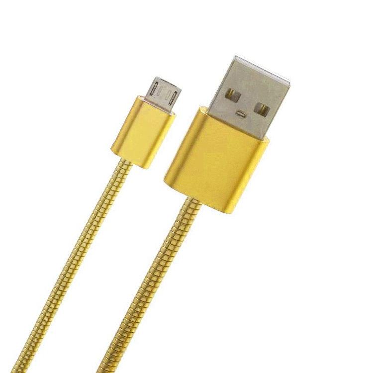 Câble USB V8 métallique