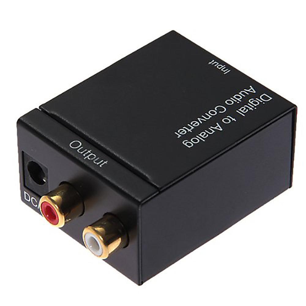 Convertisseur audio numérique optique vers analogique RCA - Noir