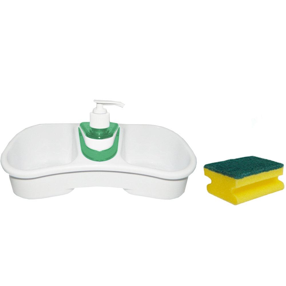 Porte-éponge avec distributeur de savon