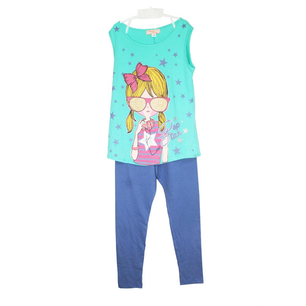 Pyjama 2 pièces 'Pop Star' pour fille -Taille 10 ans