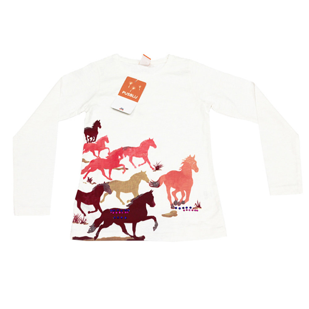 Pull 'Cheval' pour fille 'PUSBLU' - Taille 5-6 ans