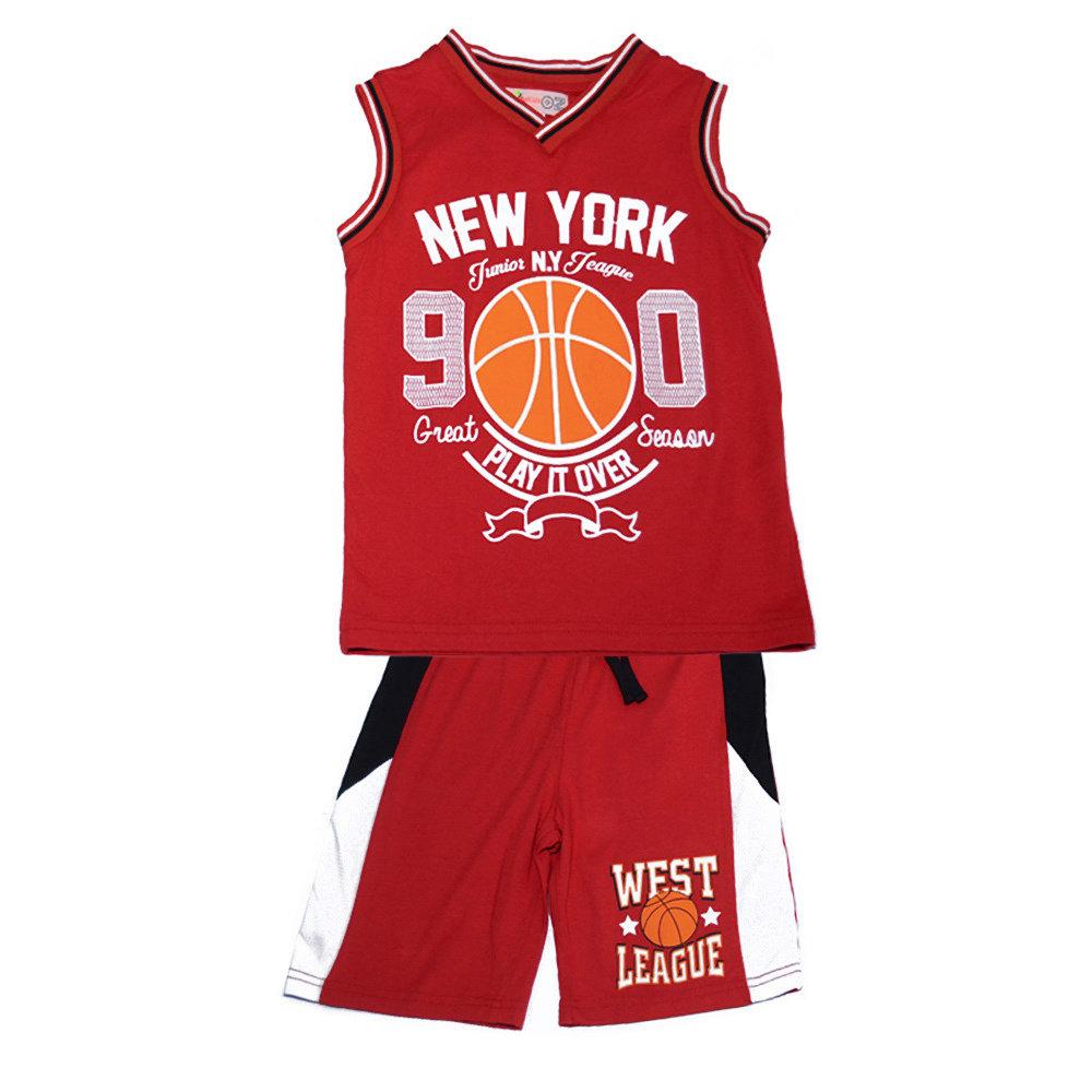 Pyjashort 'West League' pour garçon -Taille 6 ans- Rouge