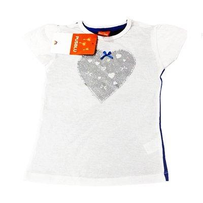 T-shirt 'Coeur' pour fille 'PUSBLU'- Taille 2-3 ans