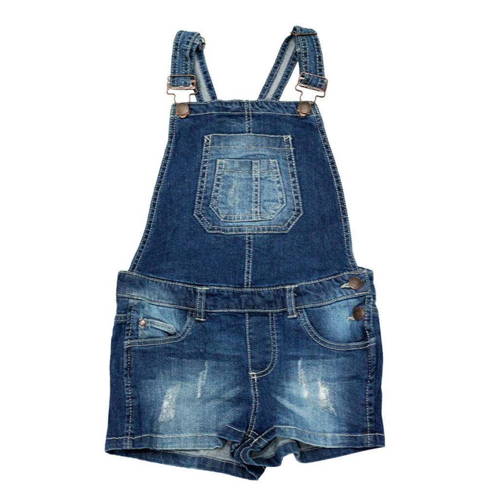 grande remise de 2019 nouveau concept pas cher Salopette short Jeans pour fille - Taille 9-10 ans