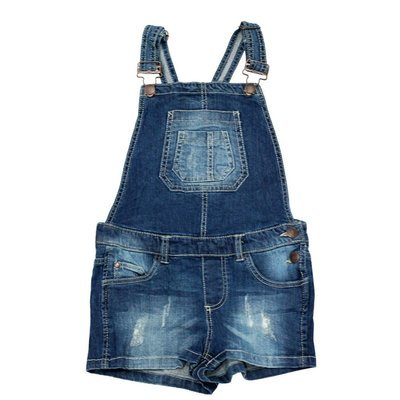 Salopette short Jeans 'Page One Young' pour fille - Taille 9-10 ans
