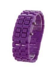 Montre bracelet Samourai à affichage LED pour Femme - Violet