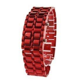 Montre bracelet Samourai à affichage LED pour Femme - Rouge