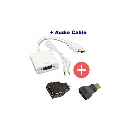 VGA12 micro et mini Hdmi vers vga avec une sortie audio