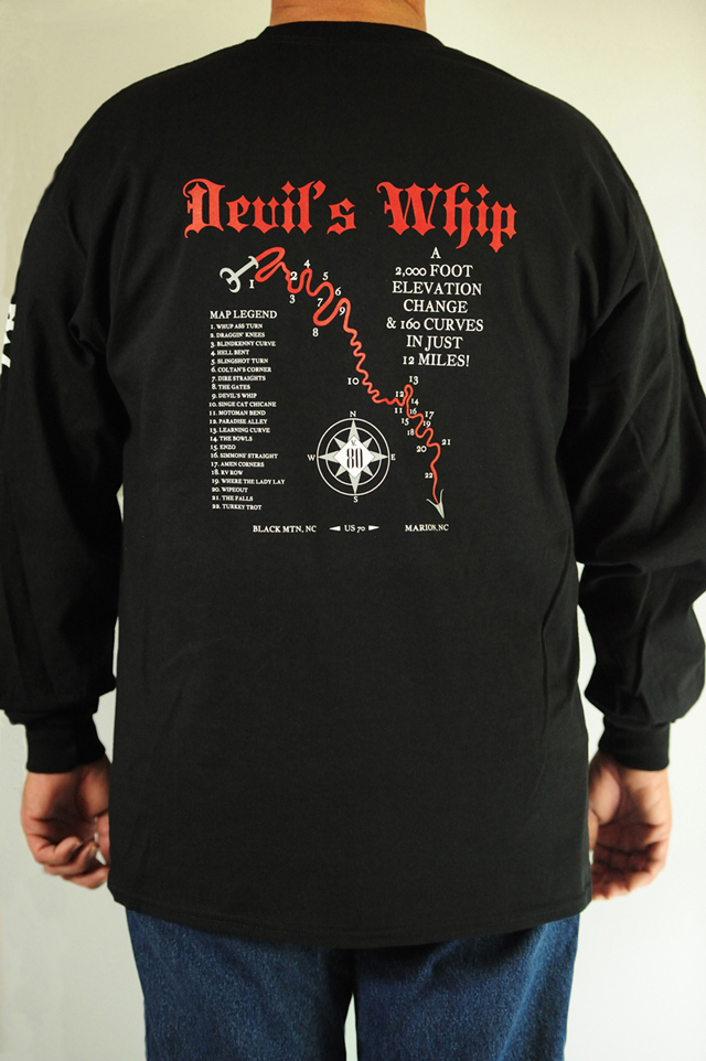 Devil's Whip Map Black Long Sleeve Tee