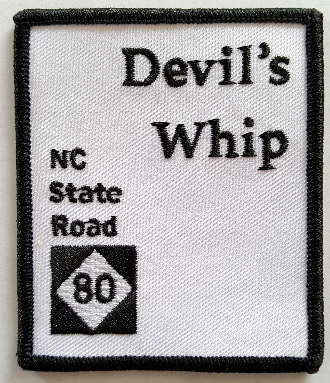NEW! Devil's Whip Rectangular Biker Patch