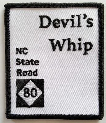 NEW! Devil's Whip Rectangular Biker Patch