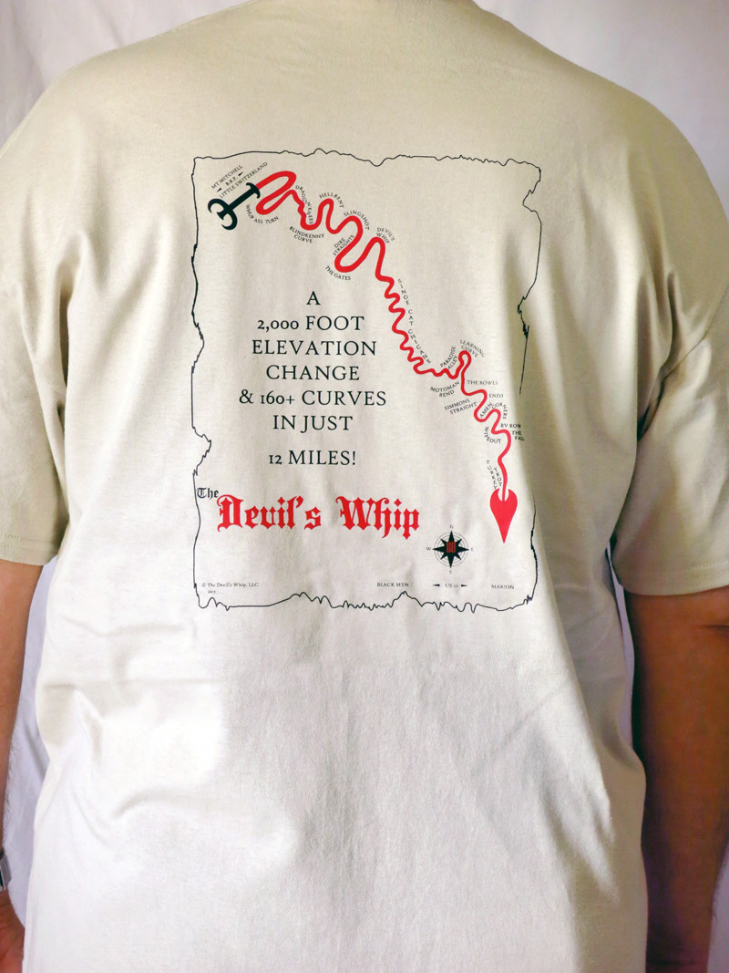 CLEARANCE - Devil's Whip Map Tan Short Sleeve Tee