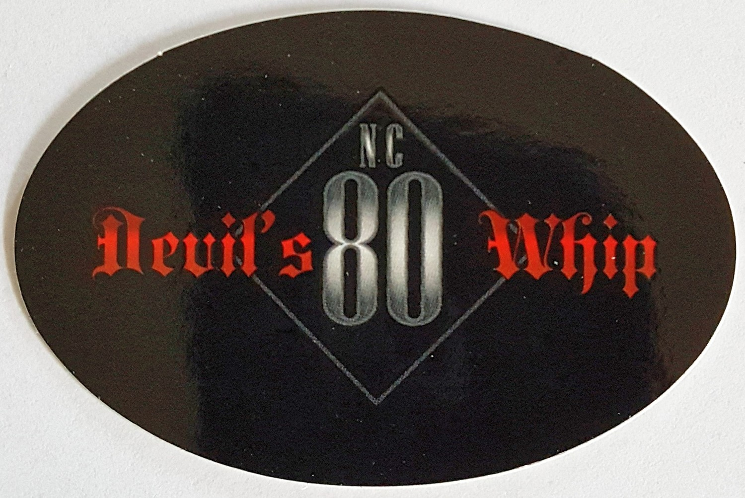 NC 80 Devil's Whip Text Oval Sticker - FREE SHIPPING!