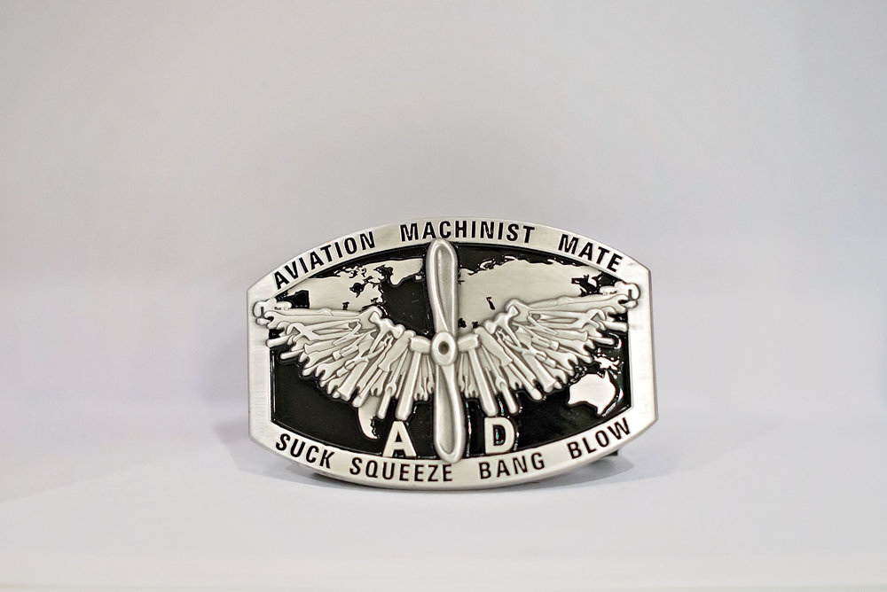 Navy Enlisted Custom Buckle: Aviation Machinist's Mate: AD