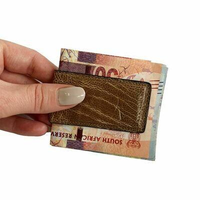 Magnetic Money Clip - Ostrich leg
