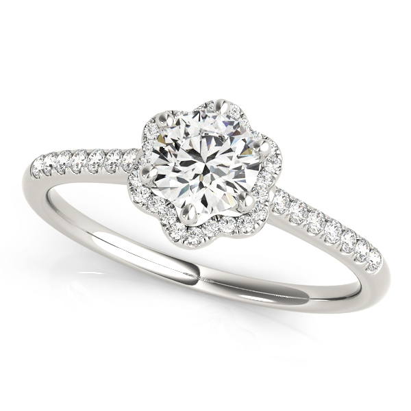 blooming flower halo engagement ring setting 18 ctw md84900 - Wedding Ring Setting