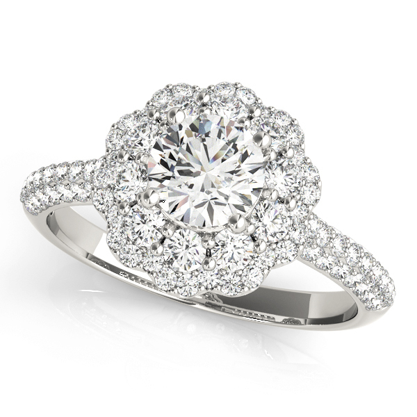 355efc06987bb Double Flower Halo Engagement Ring Setting (5/8 ctw.) MD51056