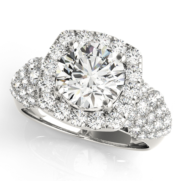 Round Halo Engagement Ring Setting 1 12 ctw MD84872