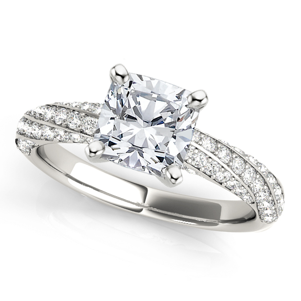 Spiral Engagement Ring Setting 12 ctw MD51029CU