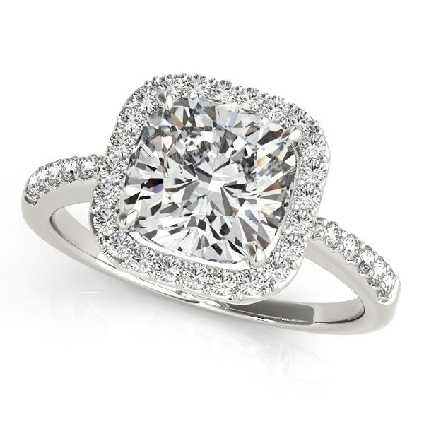 Amerest Cushion Halo Engagement Ring Setting 1 4 Ctw Md83503