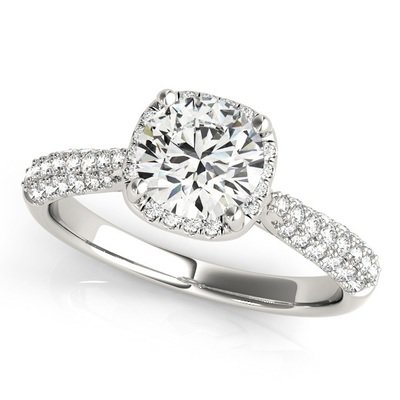 ffd74d1b2579ce Celeste Round Halo Engagement Ring Setting (1/3 ctw.) MD51009