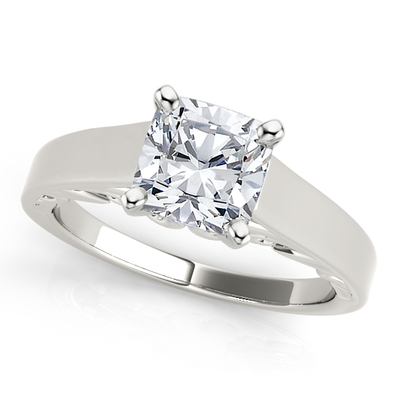 Scrolled Cathedral Solitaire Ring MD5081MA