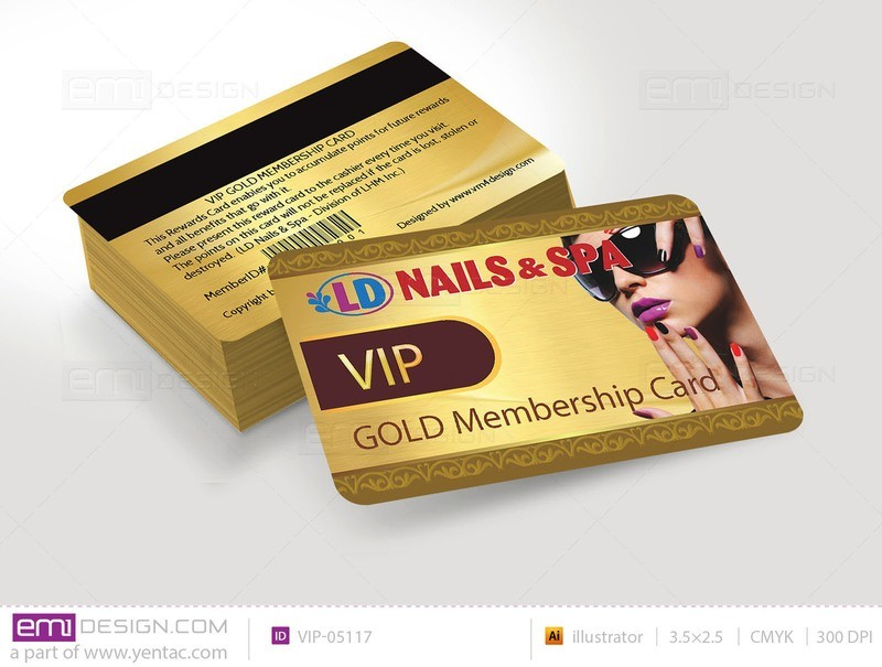 Plastic VIP Card Template- VIP-05117