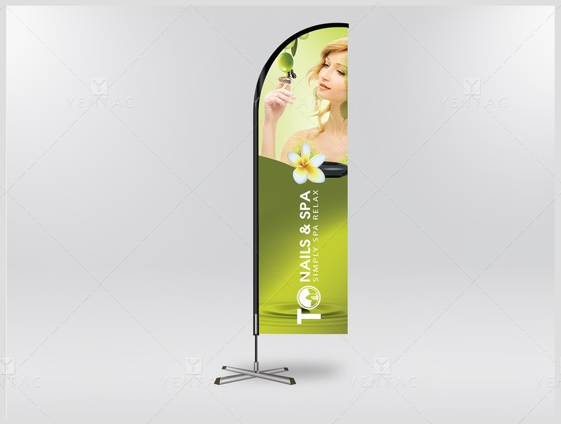 05.1.2 - Banner Flag - Design & Printing - TO Nail Spa Franchise