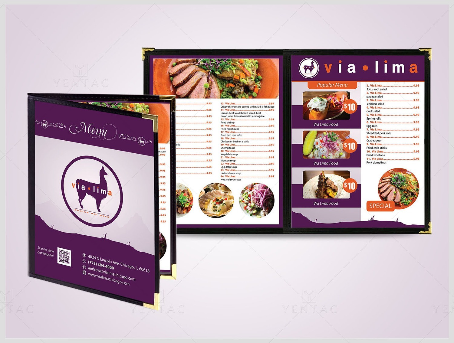 03 - Menu Dine-In - Restaurant #8000 Via Brand