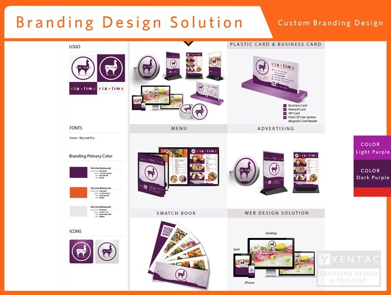 00 - Branding Design Solution - Restaurant #8000 Via Brand