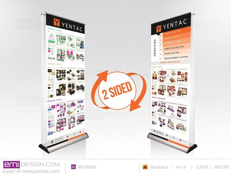 Retractable Banner Template RB-00069