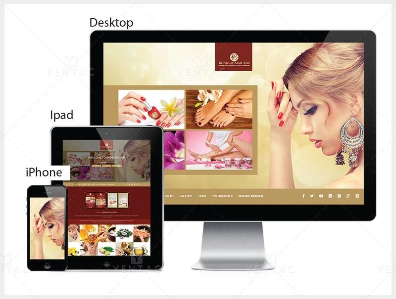 101 - Web Design Solution - Bonjour Nails Spa #5070 Salon