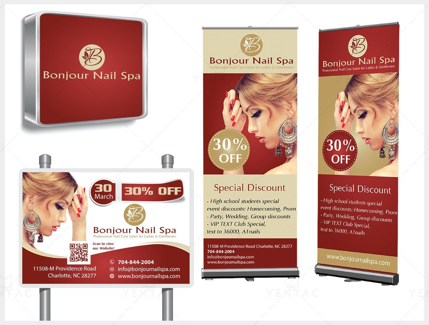 08 - Signage Solution - Bojour Nails Spa #5070 Salon