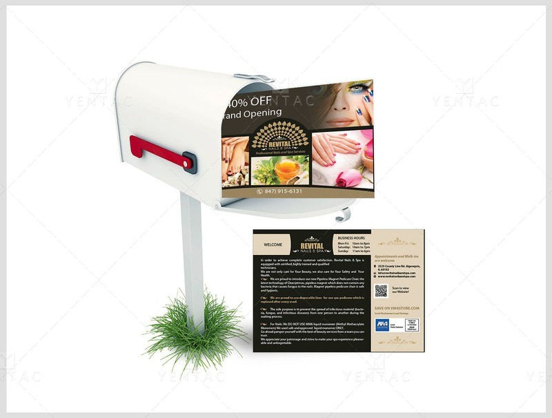 10 - Promotions - Demo Every Door Direct Mail (EDDM) Nail Salon #5010 Revital Brand