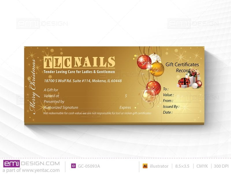 Gift Certificate Template GC-05093A