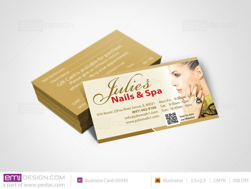 Business Card - Template buscard-05045 - Julie Nails