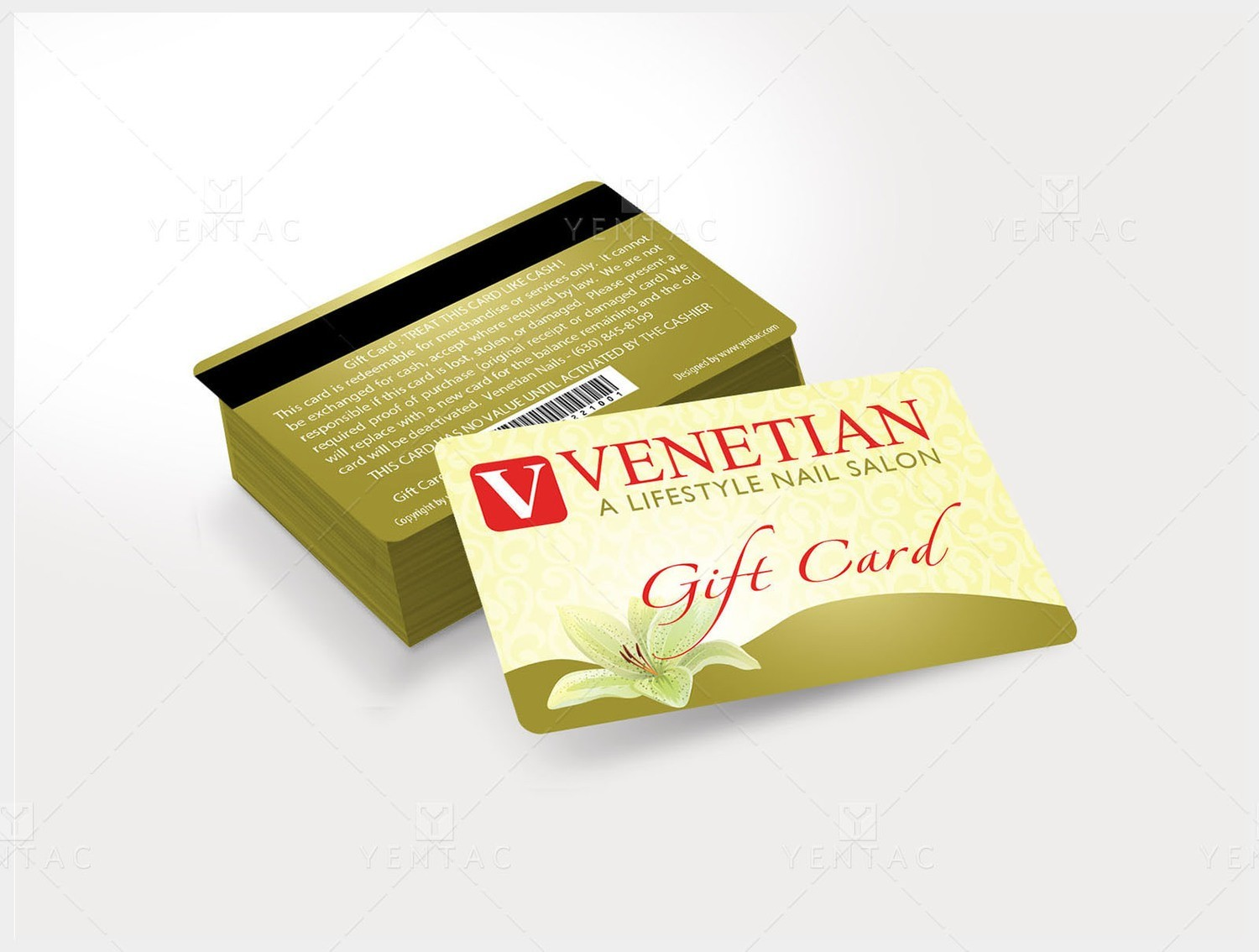 Plastic Gift Card No Picture - Template GCD-05051