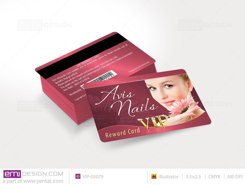 Plastic VIP Card Template- VIP-05079